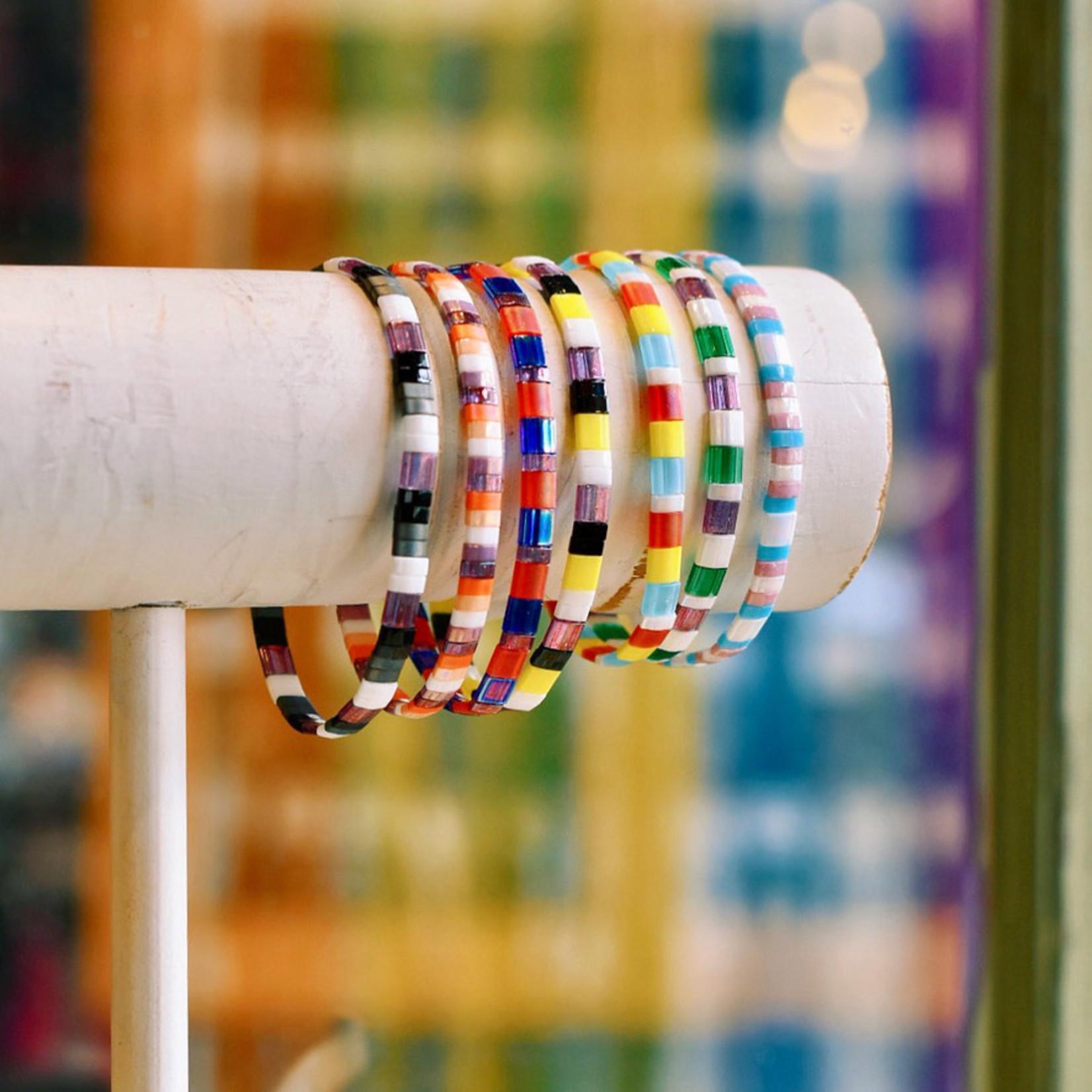 Rabble Rose Locally handmade Tila Bead Pride Bracelet
