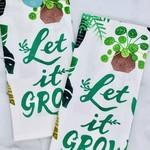 Let It Grow Tea Towel