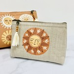 Soleil Small Cosmetic Linen Bag