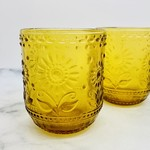 12 oz Embossed Drinking Glass Amber