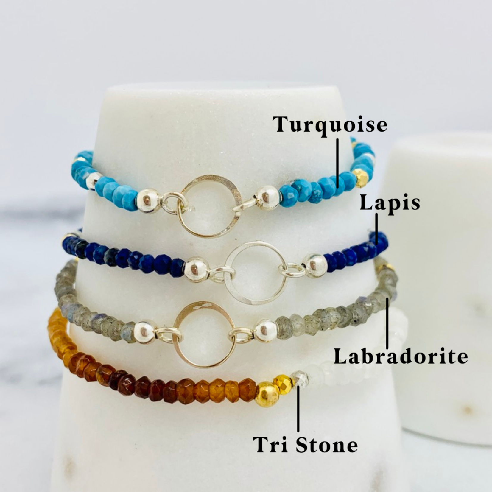 Tiny Gemstone Stretch Bracelet
