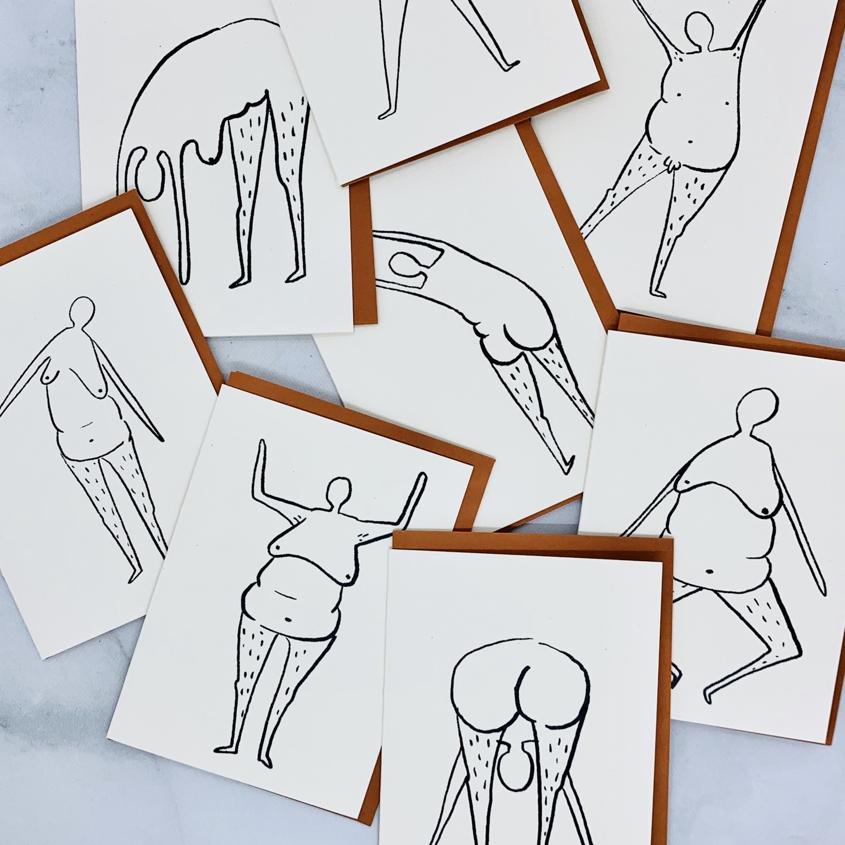 Rani Ban Co Various Poses 8 Pack of Cards