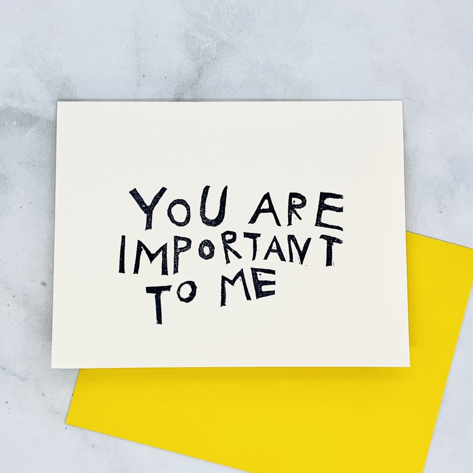 Rani Ban Co You Are Important to Me Card