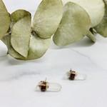 Raw Herkimer Diamond | Tibetan Quartz Point Stud Earrings
