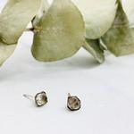 Raw Crystal Quartz / Herkimer Diamond Stud Earrings