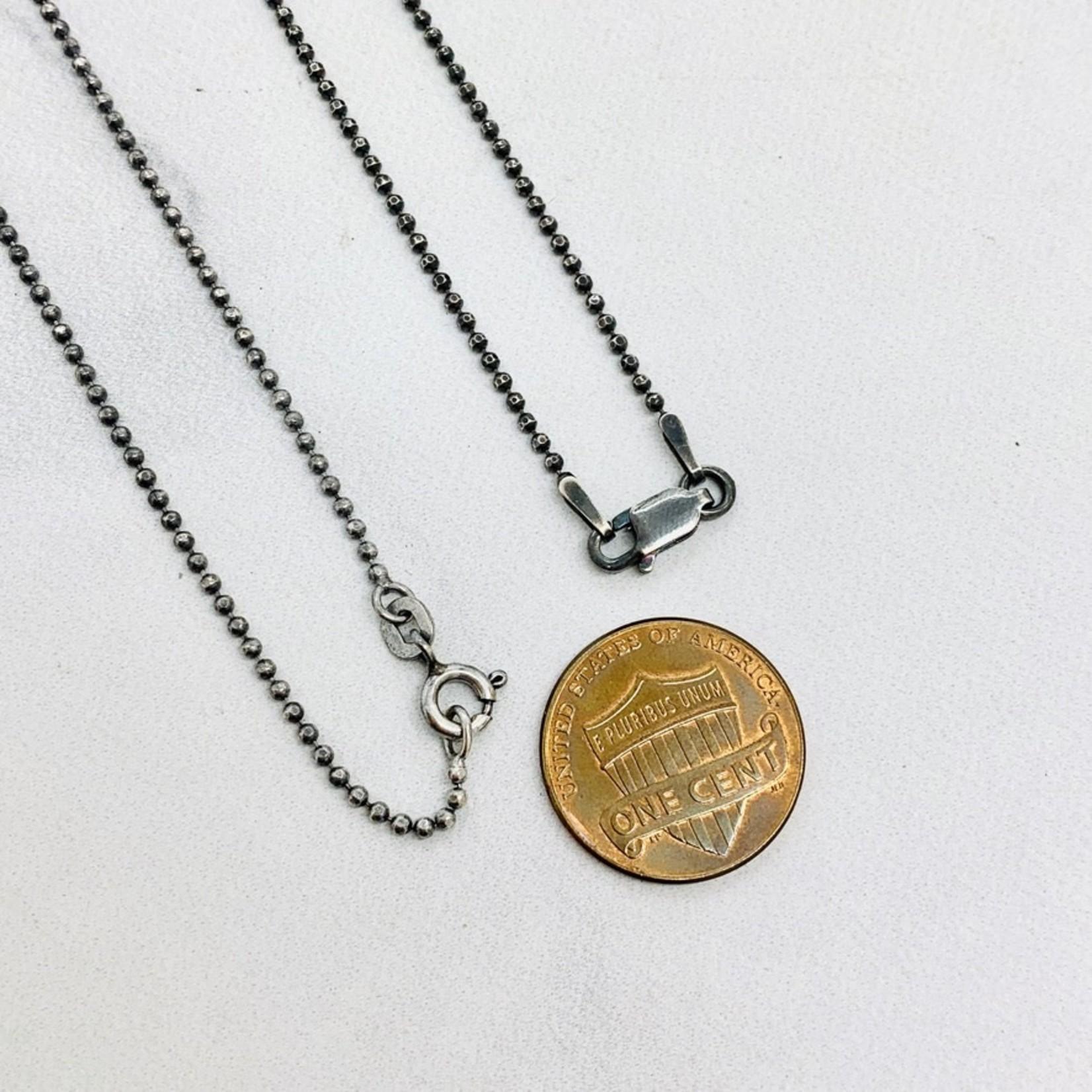 "18"" Silver Birthstone Necklace"