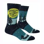 Dragons & Wizards & Shit Men's Crew Socks