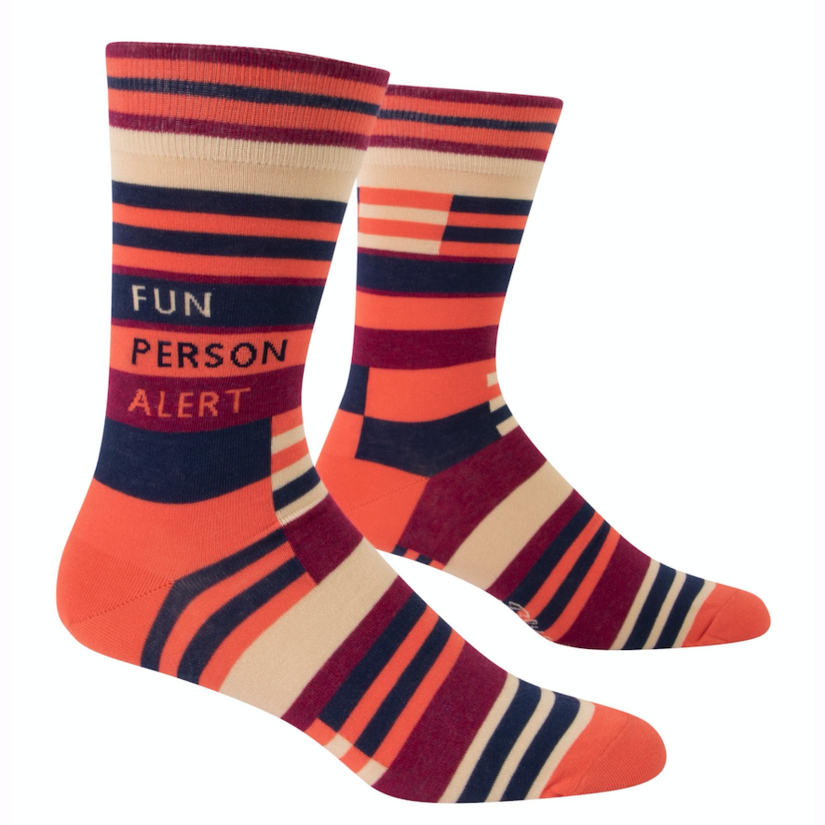 Fun Person Alert Men's Crew Socks
