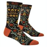 Hate Will Fucking Lose Men's Crew Socks