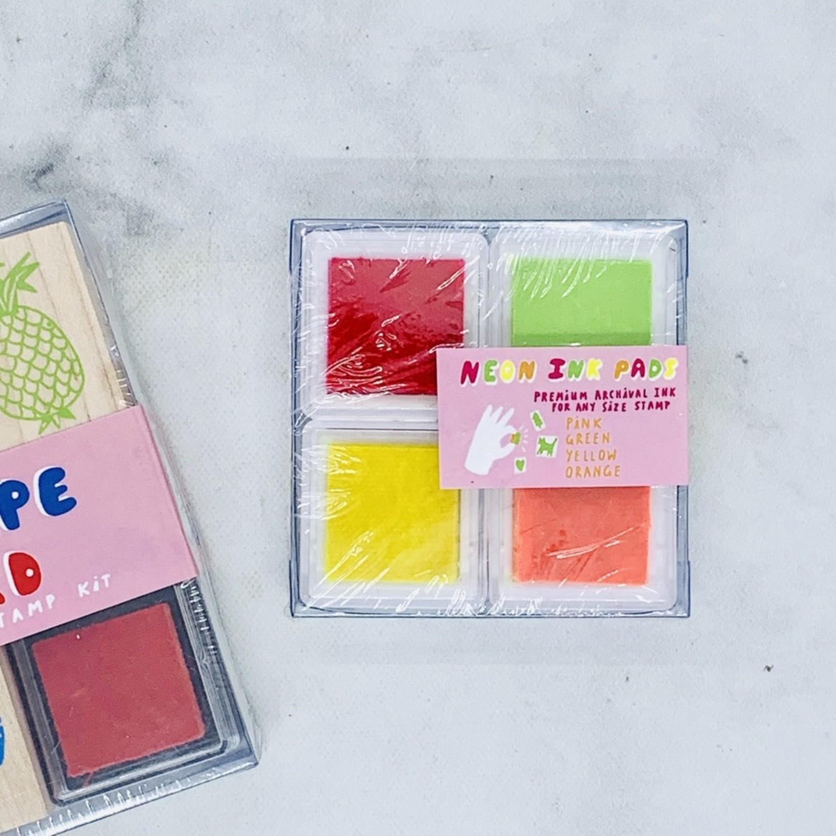 Yellow Owl Workshop Neon Pink , Orange, Green, and Yellow Chroma Ink Pad