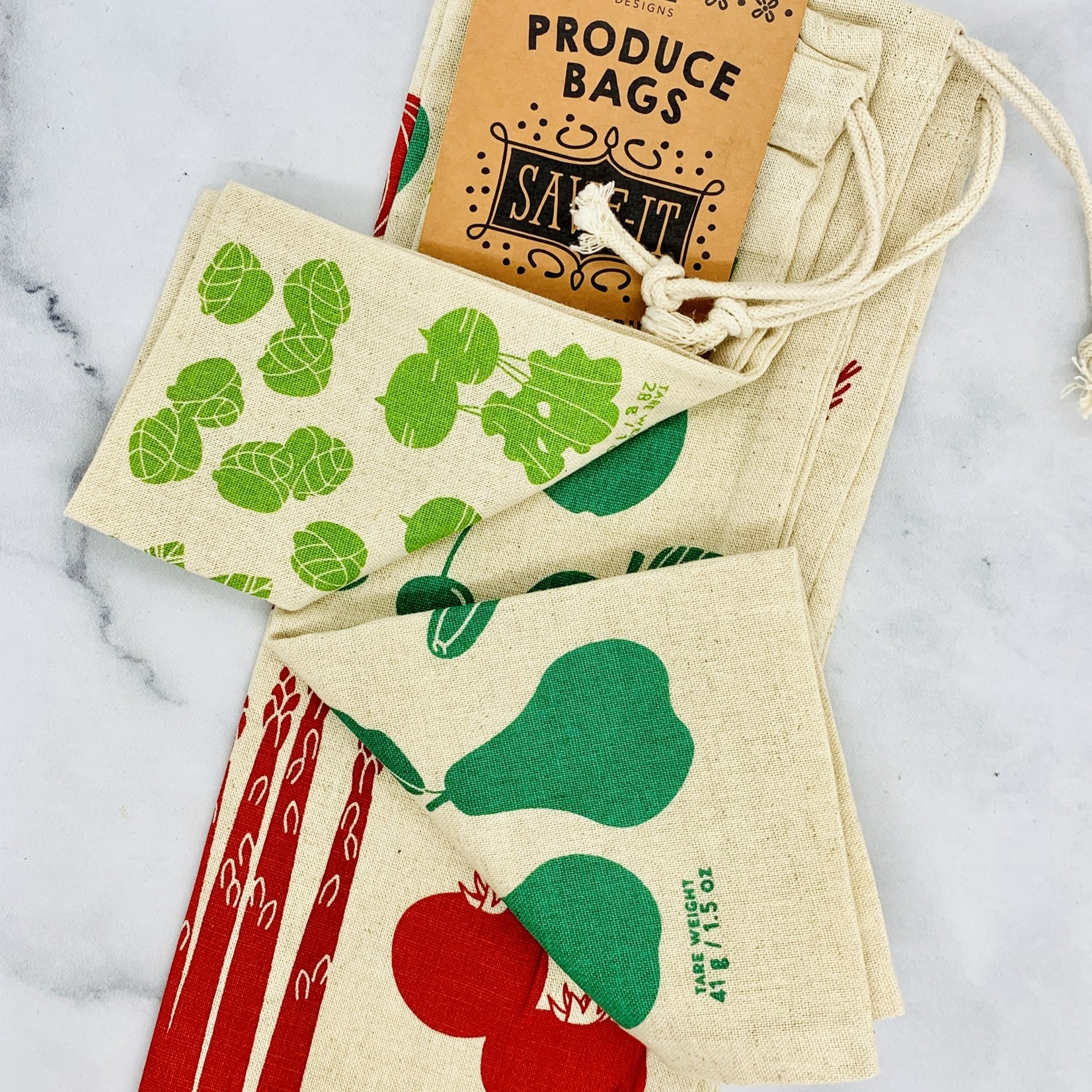 Fruit and Veggies Produce Bags Set of 3