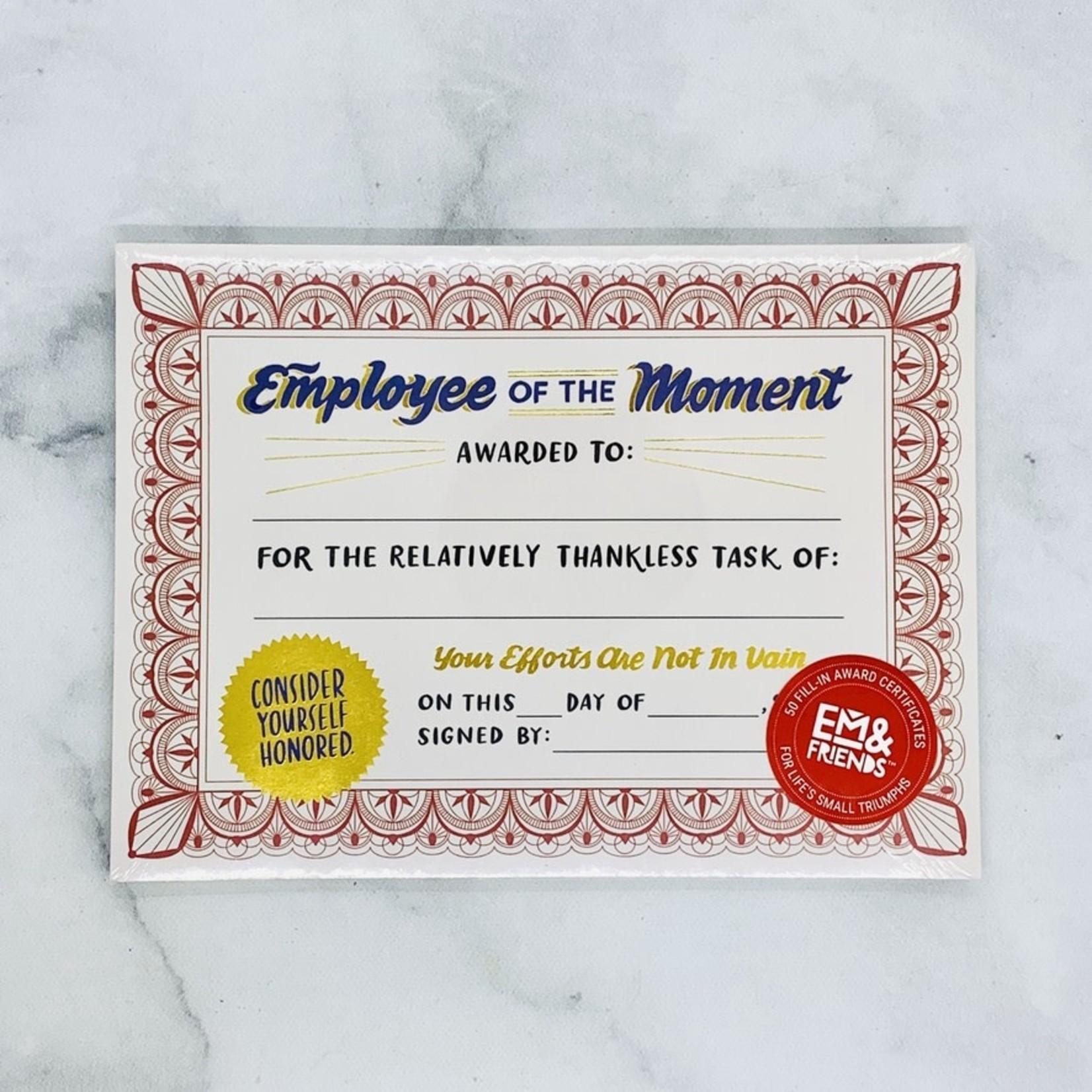 New Certificate Pad