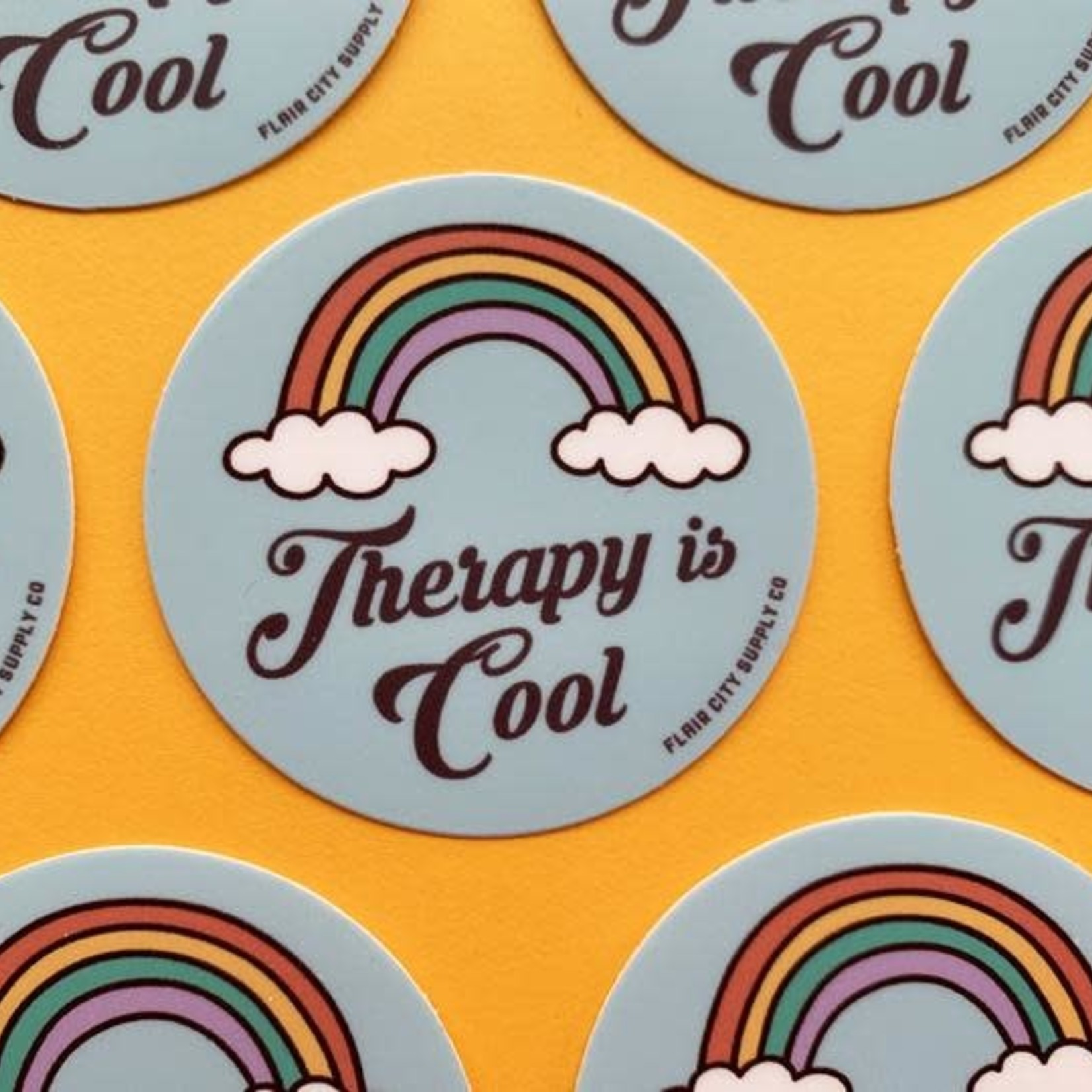 Flair City Supply Co Therapy is Cool Sticker