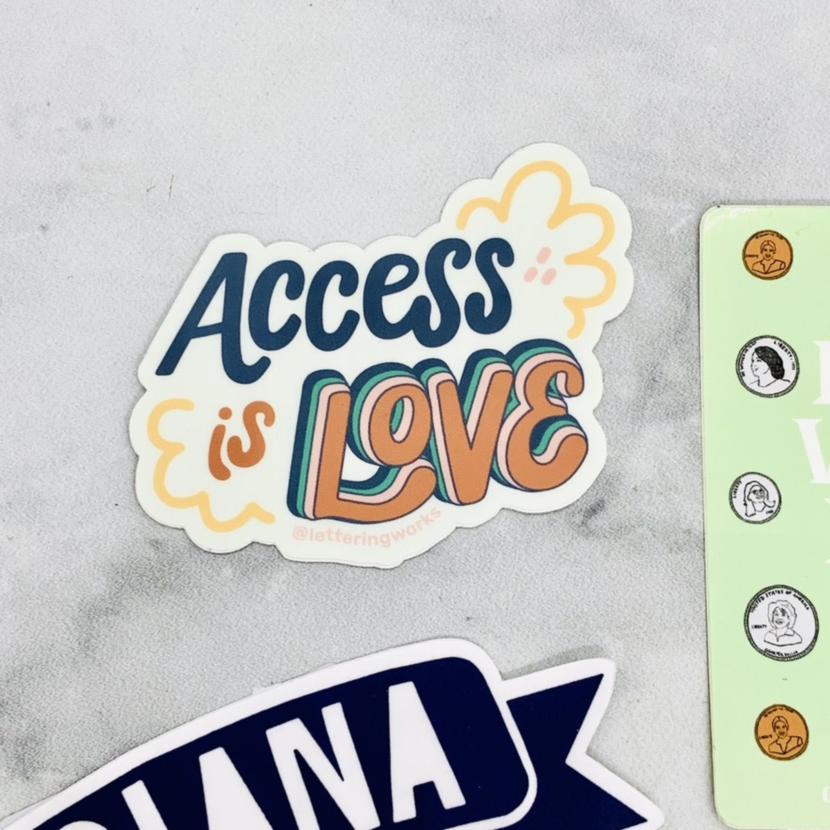 Lettering Works Access is Love Sticker