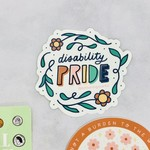 Lettering Works Disability Pride Flowers Sticker