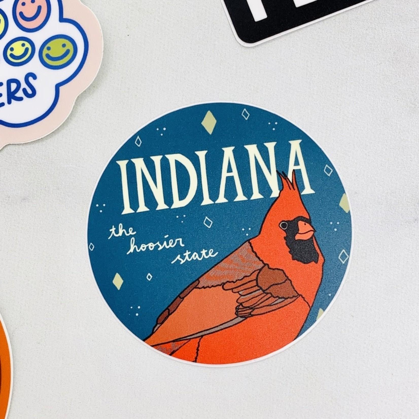 Made by Nilina Indiana Sticker Hoosier State Souvenir