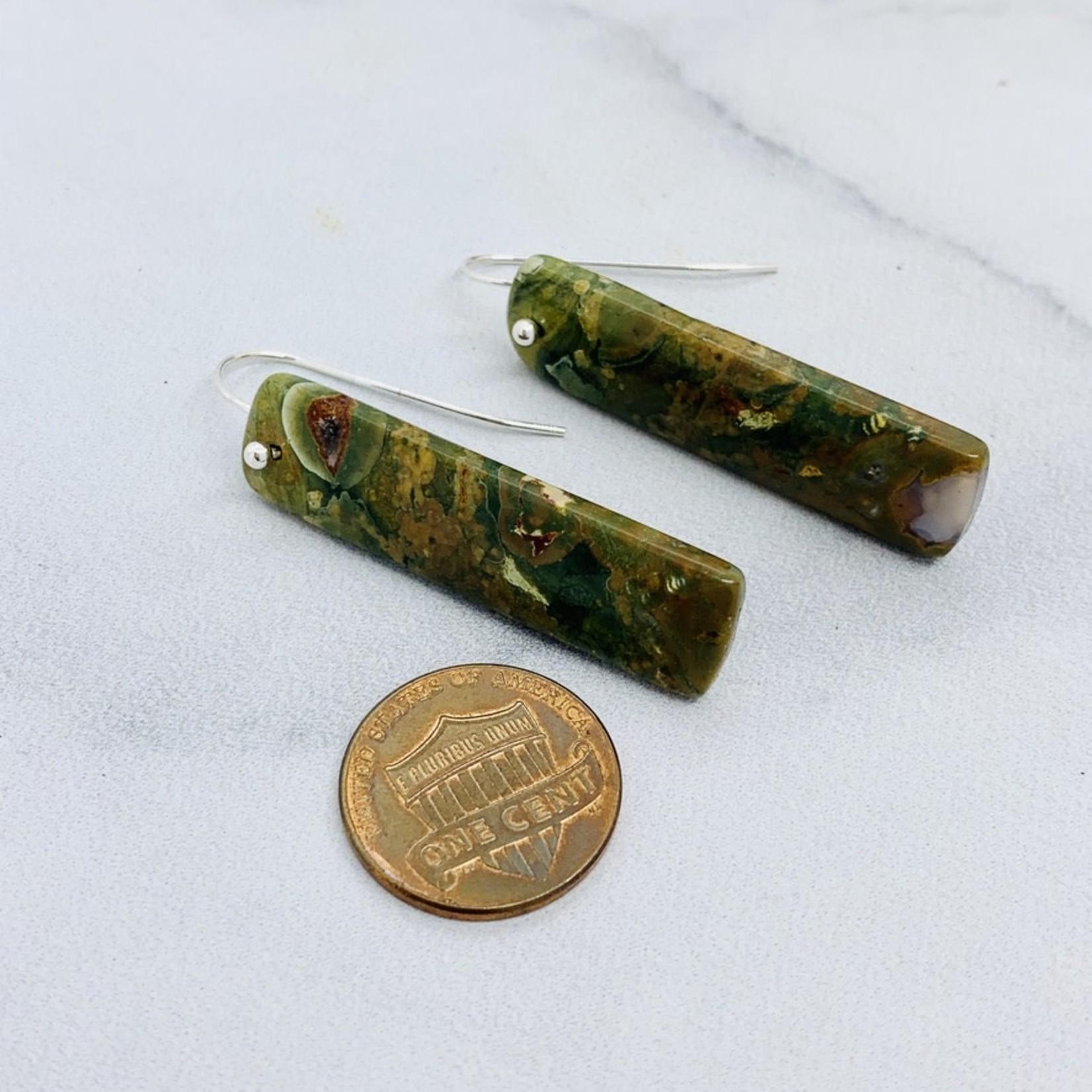 EVANKNOX Handmade Earrings with rhyolite jasper