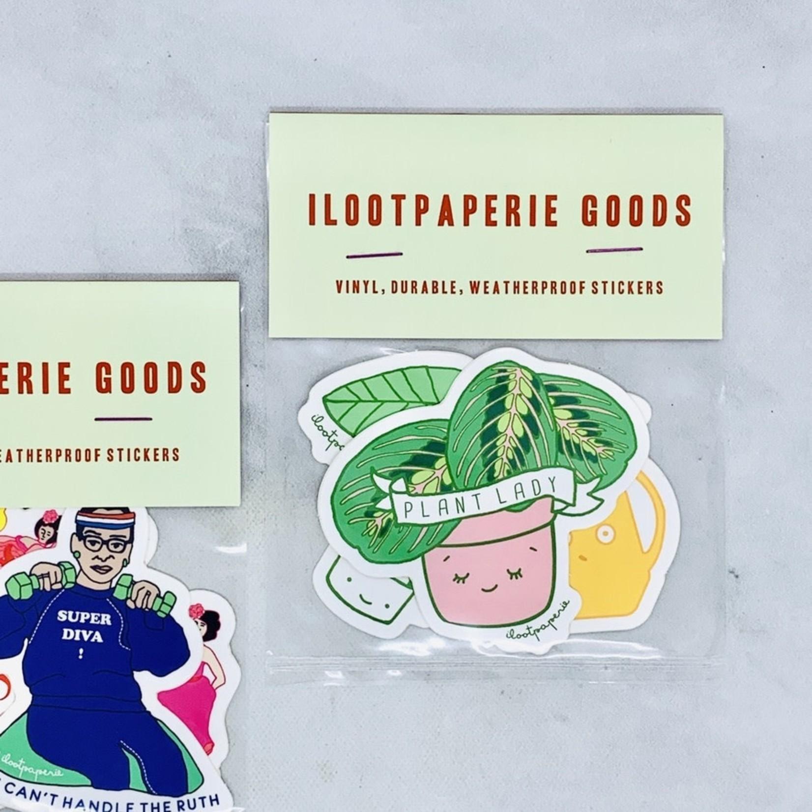 ILOOTPAPERIE Plant Lady Sticker 3 Pack