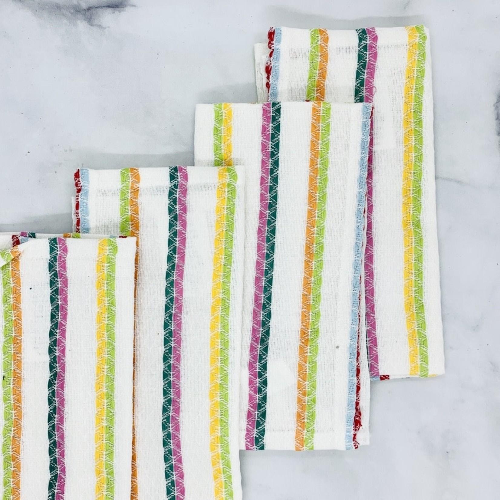 Cotton Striped Square Napkins Set of 4