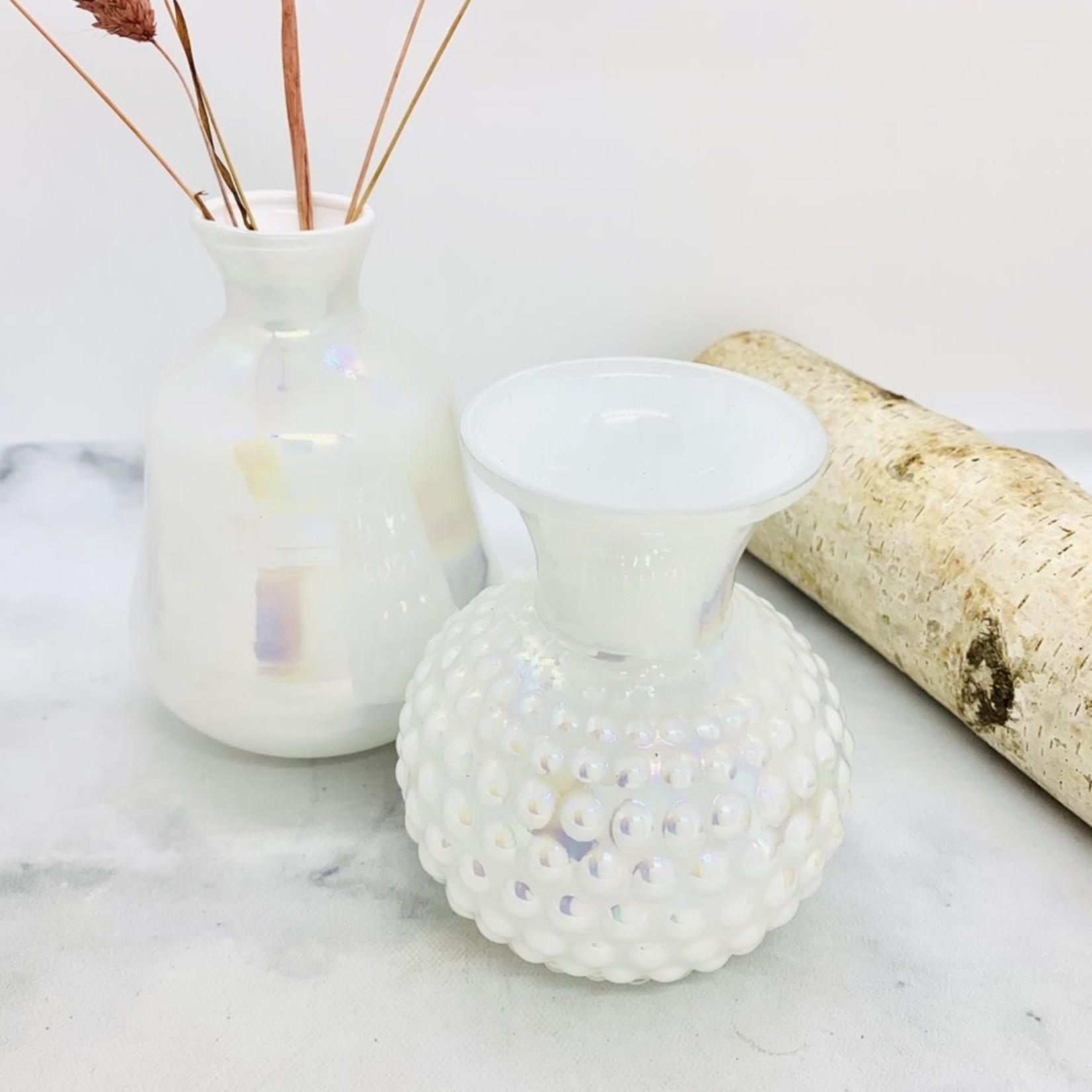 White Opalescent Glassware