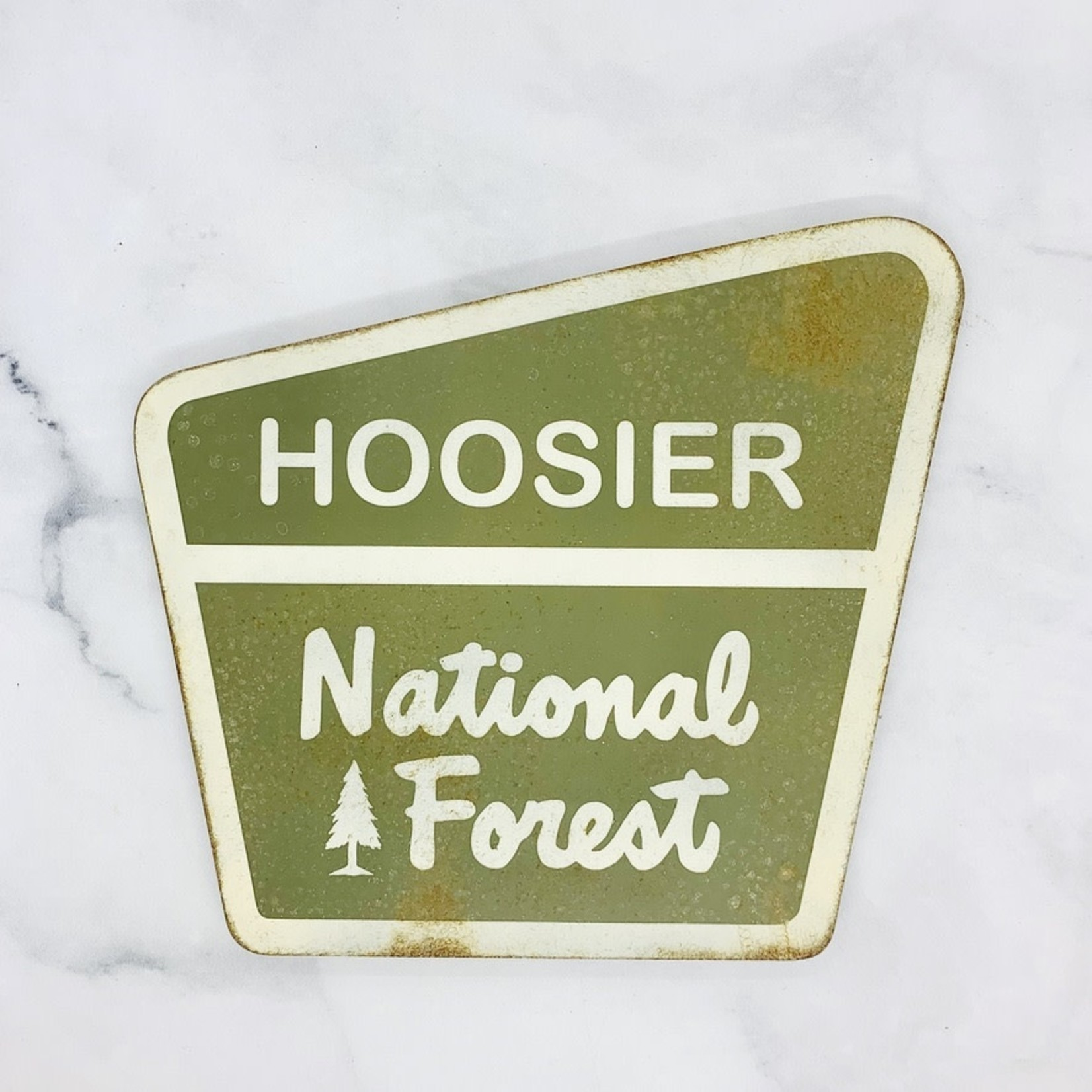 Hoosier National Forest Metal Sign, 10x10