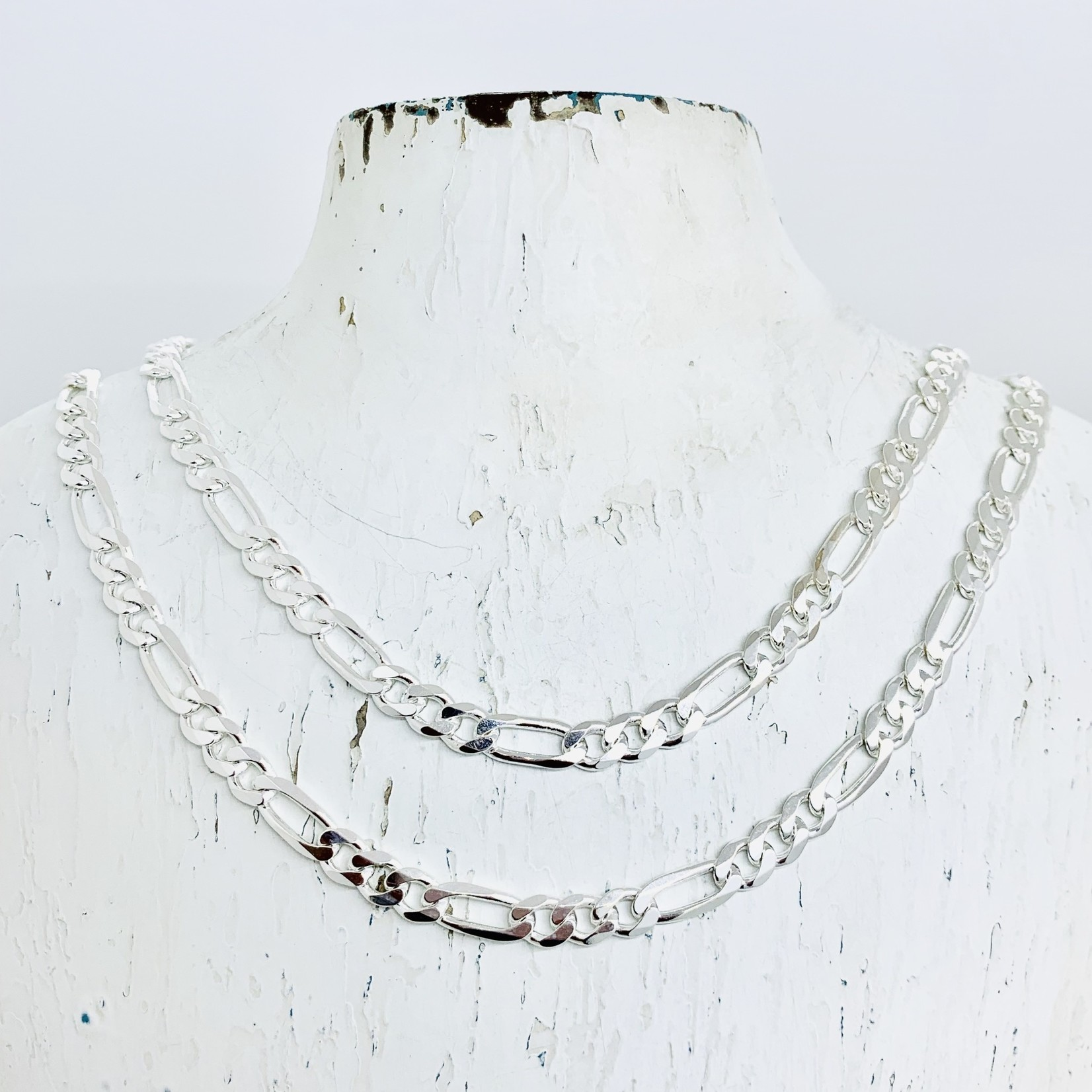 Sterling Silver 5.5mm Figaro Chain