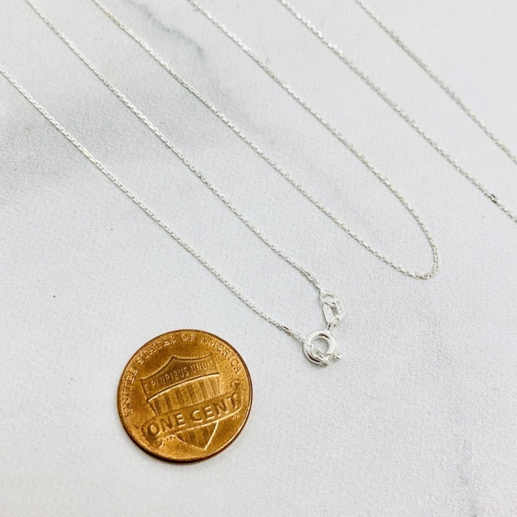 Sterling Silver Diamond Cut Rolo Chain