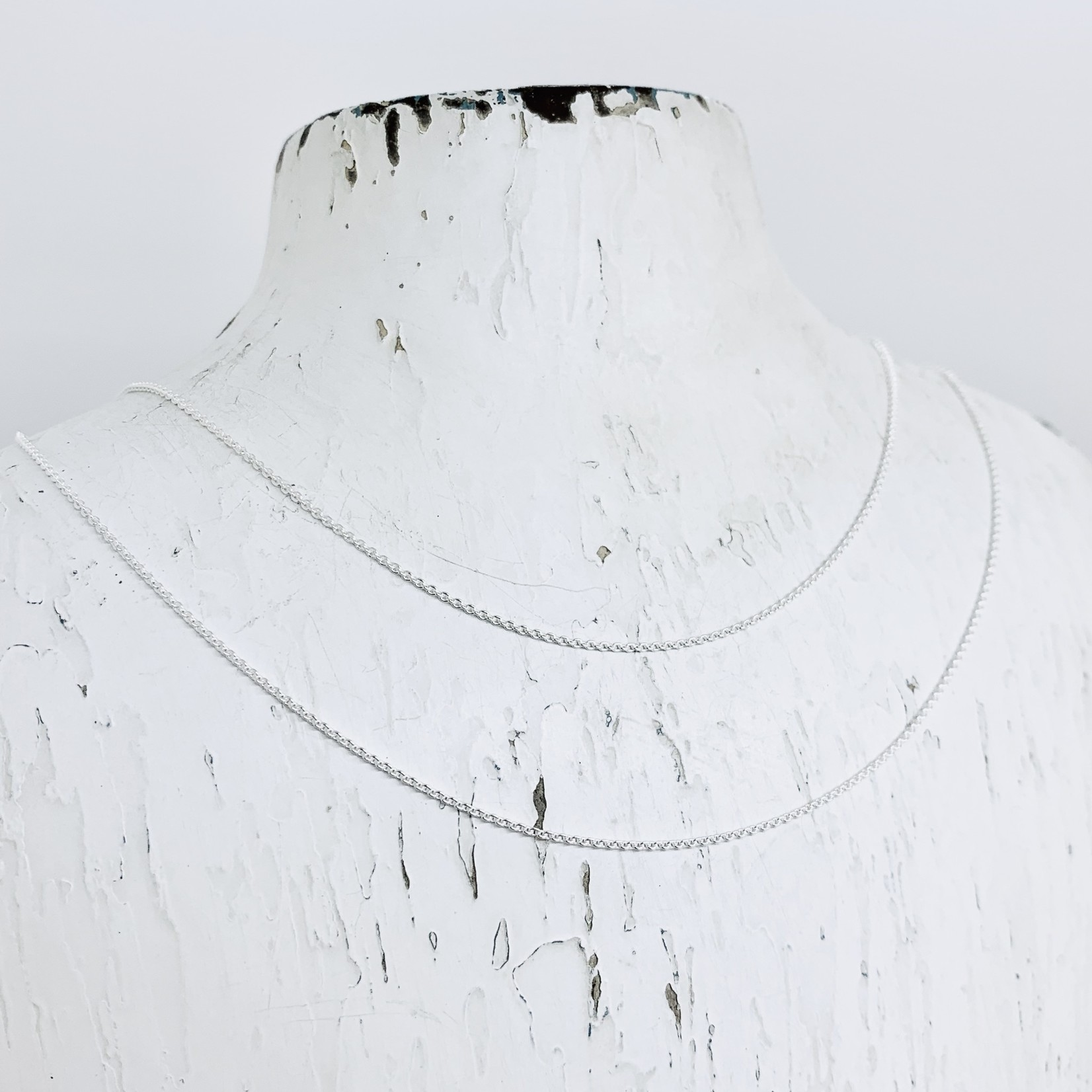 Sterling Silver Light Rolo Chain Necklace