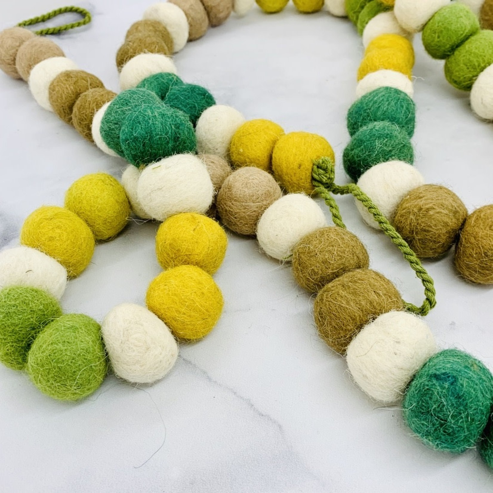 "Wool Felt Multi Color Garland 72""L"
