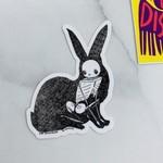 Cat Rocketship Hare Animus Sticker