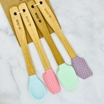 Rice by Rice Silicone Scrapers With Bamboo Handle Set of 4