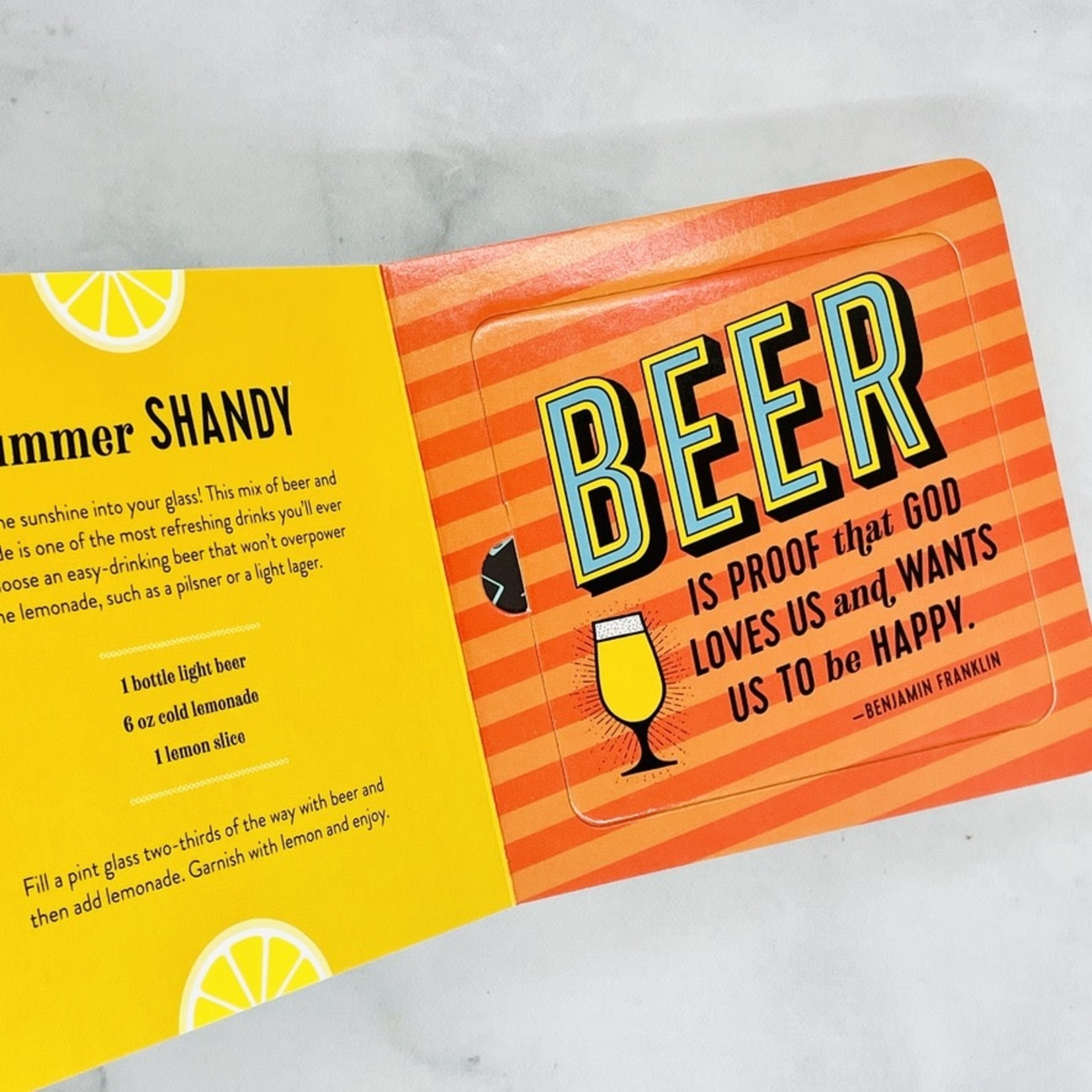 The Power of Positive Drinking: a Pop Out Coaster Book