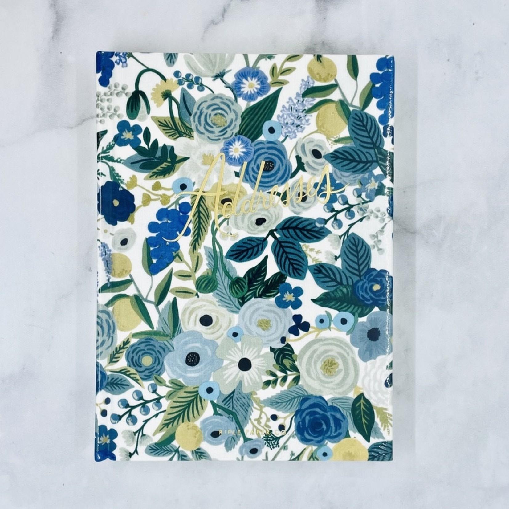 Garden Party Blue Address Book