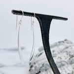 Sterling Silver Curved Stick Earrings