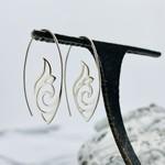 SS Open Scrollwork Earrings, 36x17mm