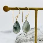Locally Handmade Gemstone Drop Earrings 14k Goldfill Solar Quartz