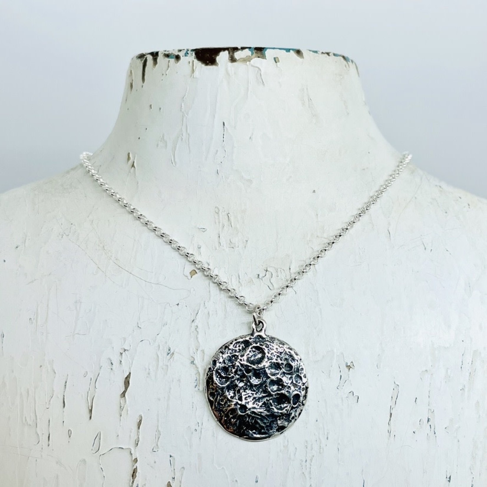 Silver Bramble Jewelry Handmade Moon Necklace in Silver