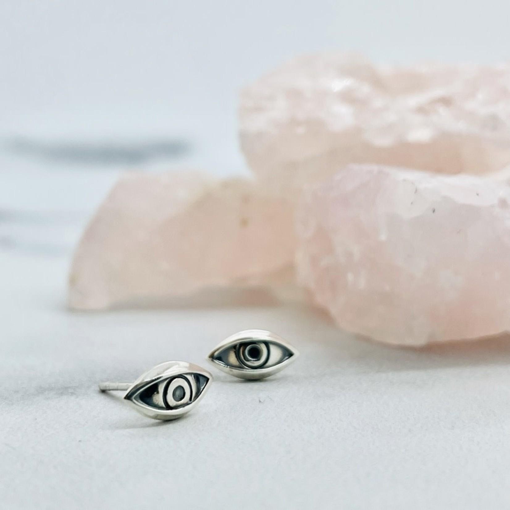 Eye Stud Earrings, SS