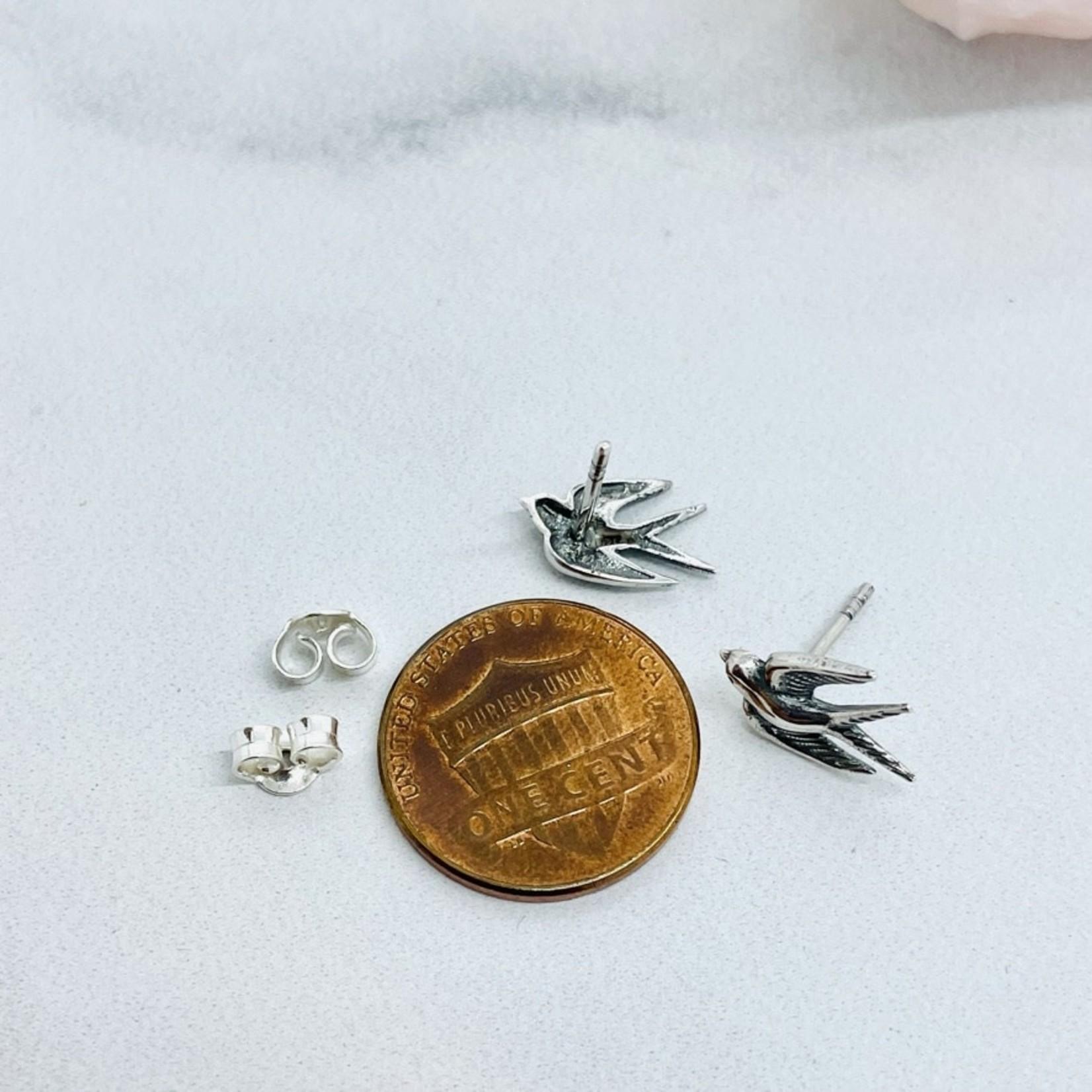 SS Swallow Stud Earrings