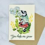 Marika Paz Illustration You Help Me Grow Card