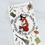 Marika Paz Illustration Magic Student Enamel Pin