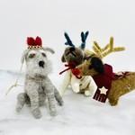 "Wool Felt Dog Ornament 4-1/4""L"