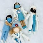 Wool Felt Medical Professional Ornaments