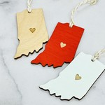 Indiana Heart Ornament