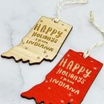 Happy Holidays From Indiana Ornament