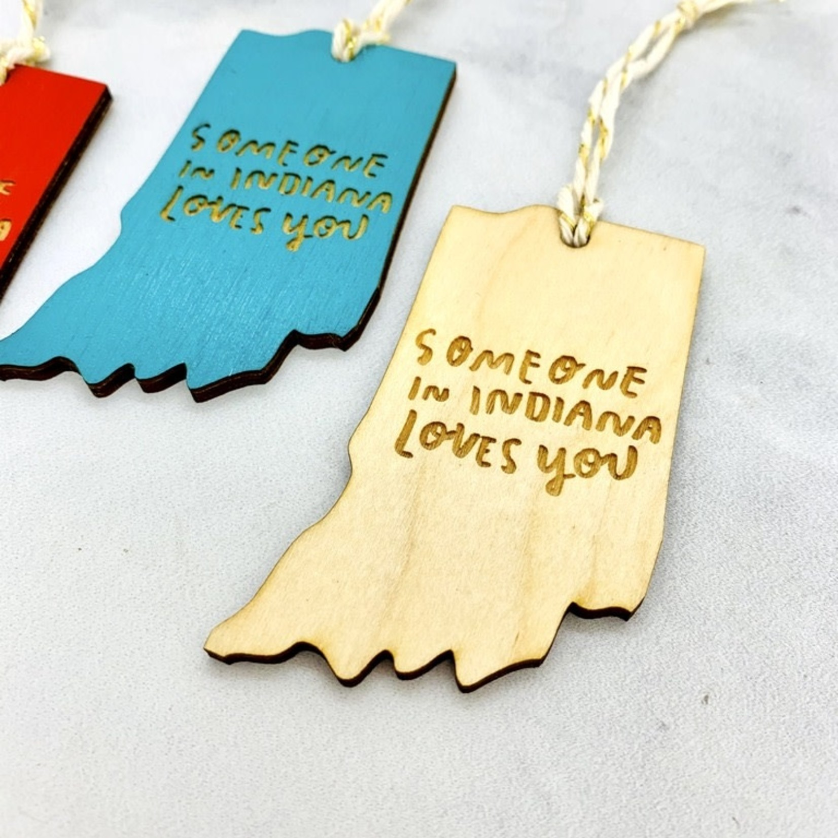 Someone In Indiana Loves You Ornament