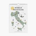 2022 World Traveler Wall Calendar