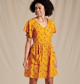 TOAD & CO HILLROSE BUTTON-UP SS DRESS T1782010