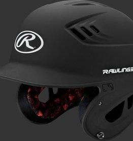 Rawlings Velo Senior Batting Helmet Mat Black Senior