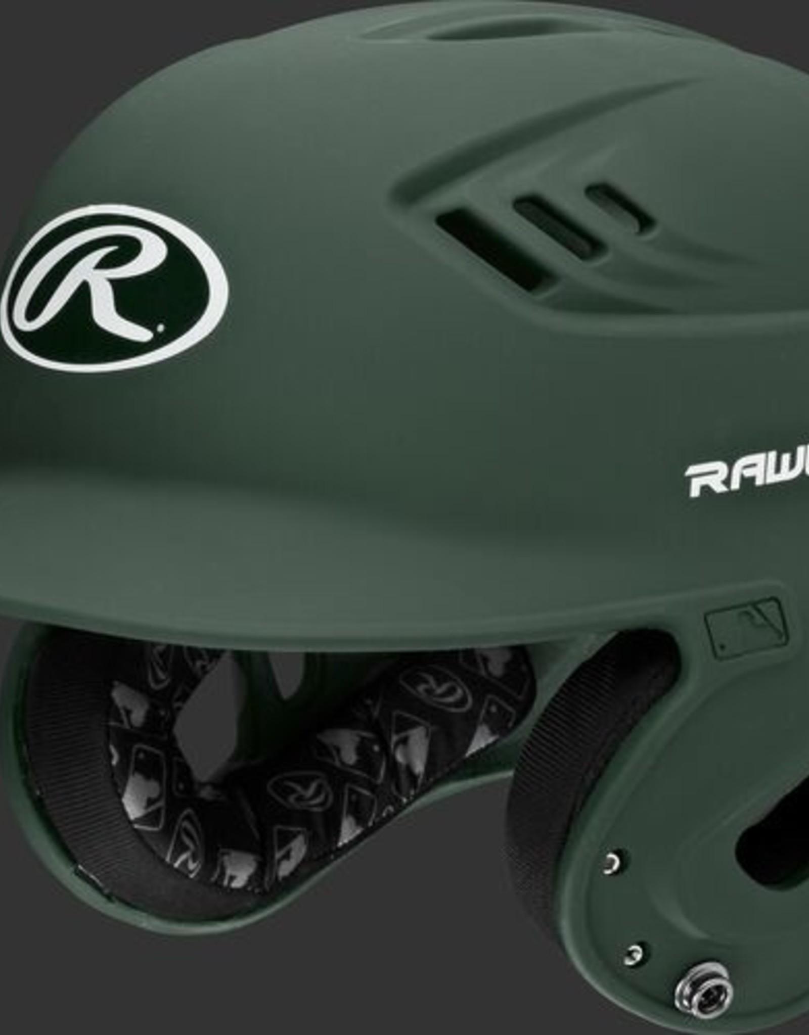 Rawlings Velo Senior Batting Helmet Matte Dk Green